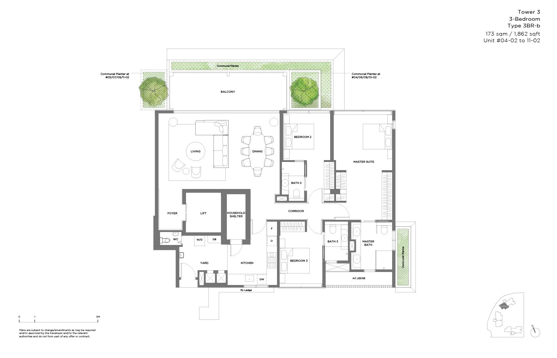 15 Holland Hill 3 Bedroom 1,862sf
