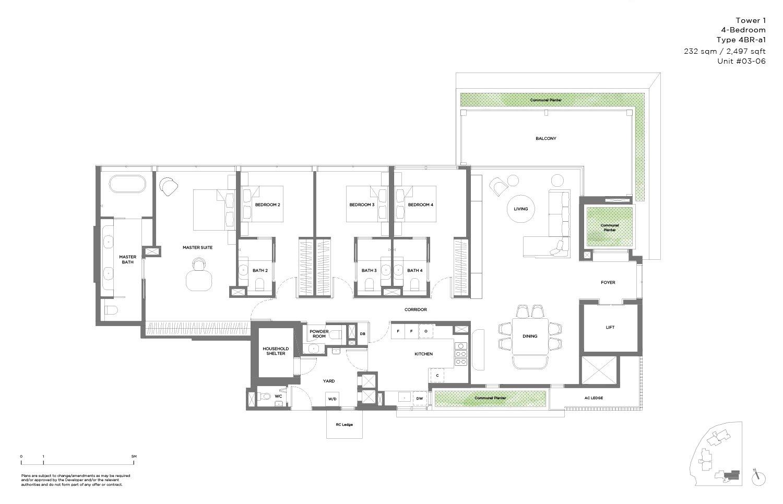4 Bedroom 2,497sf