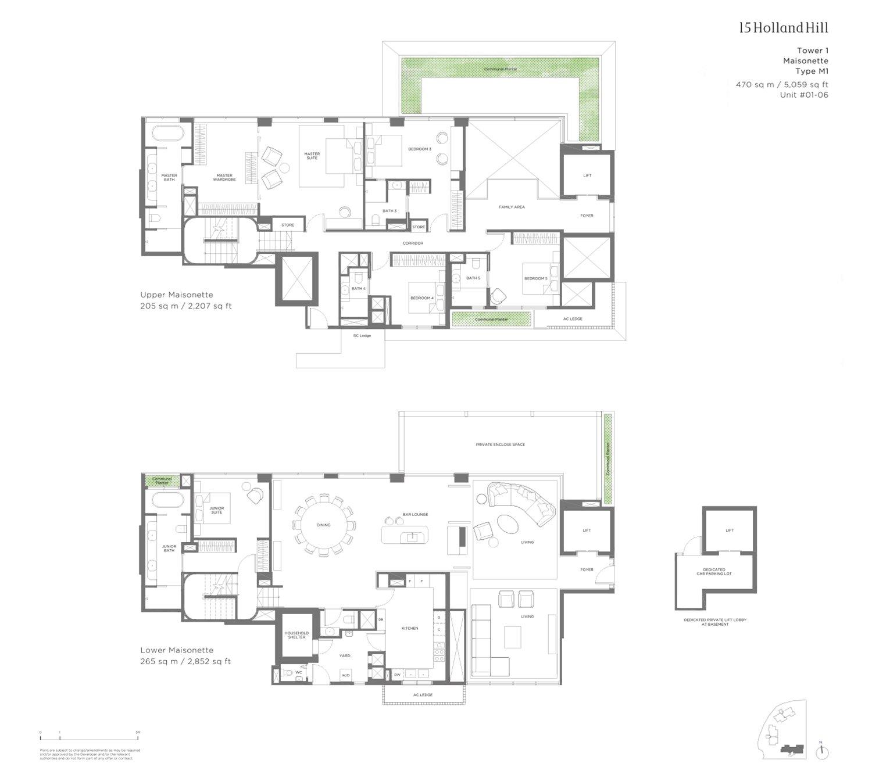 15 Holland HIll 5 Bedroom Maisonette 5,056sf