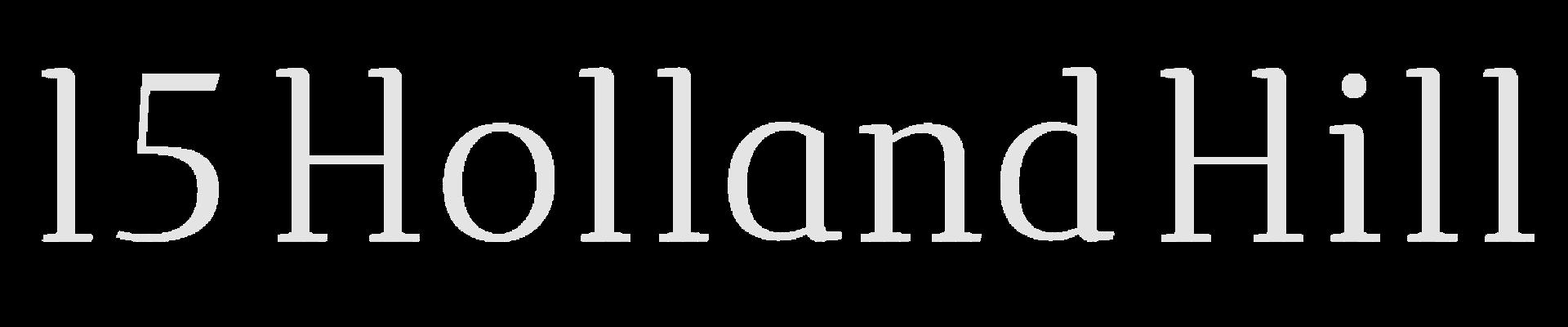 15 Holland Hill logo white